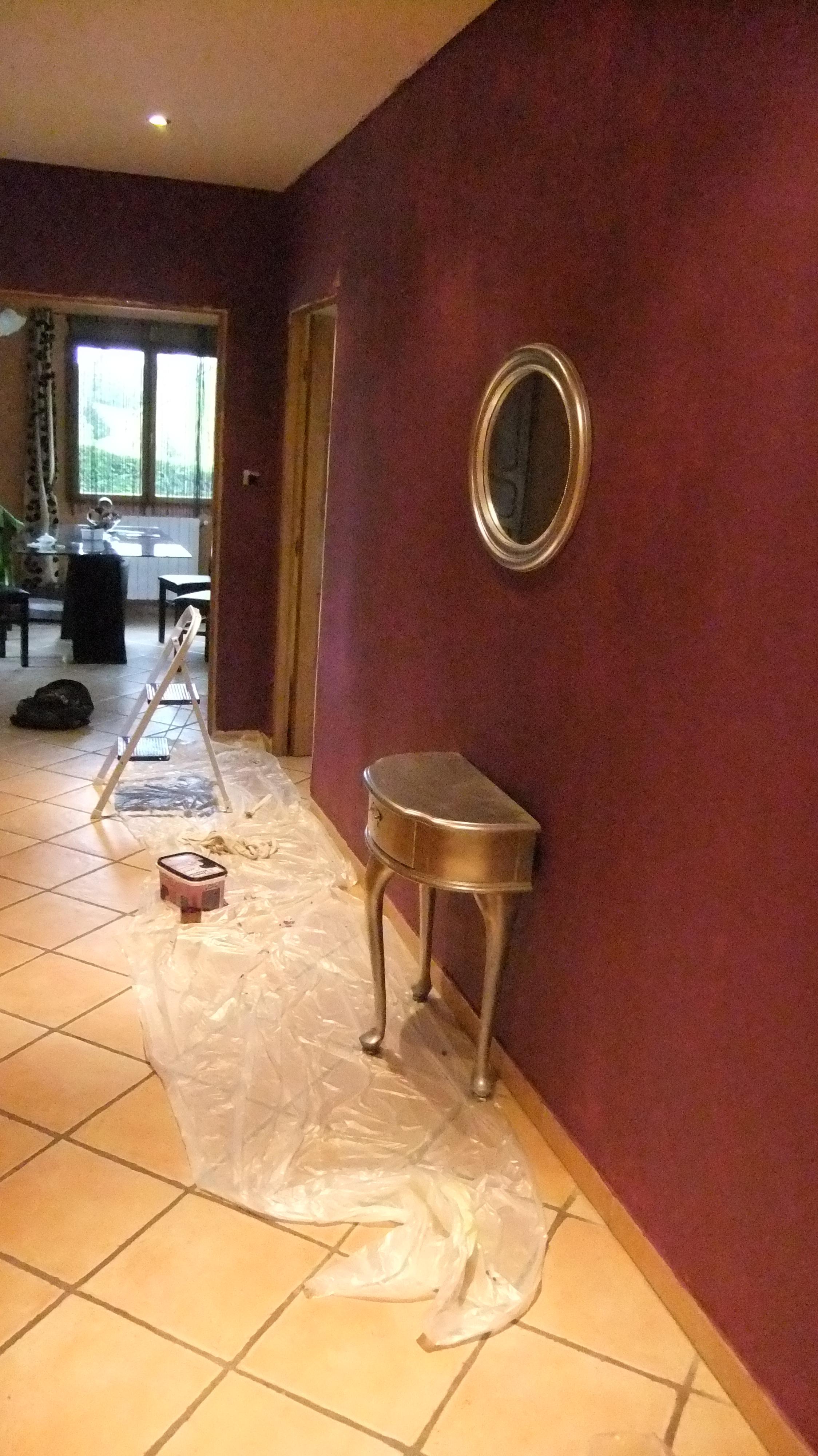 Millemiettes couloir prune for Couleur mur couloir entree